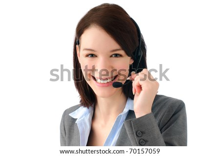 Attractive young business woman