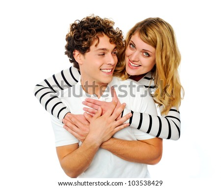 Attractive young couple hugging each other. Great bonding