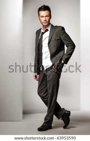 Attractive young man model - stock photo