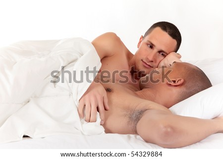 stock photo : Attractive young mixed ethnicity gay, homosexual couple, ...