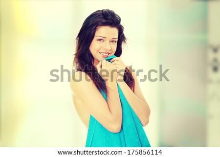 Cute nude teen girl fingering herself