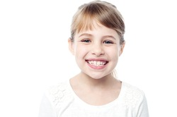 Attractive young smiling girl child