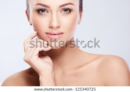 Attractive young woman in studio