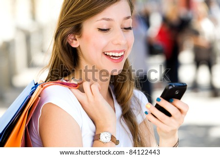 Attractive young woman shopping