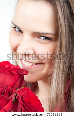 Attractive young woman smiling
