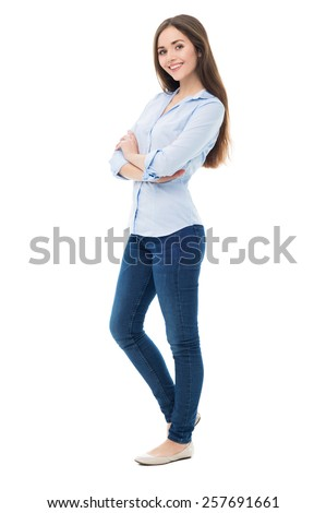 Attractive Young Woman Standing 257691661