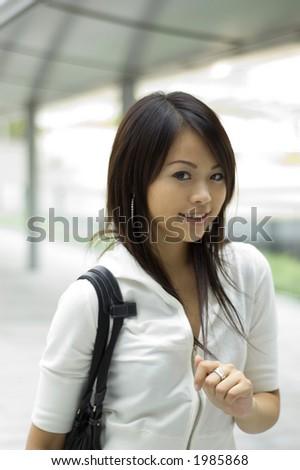 attraktive asiatische Frau - stock photo