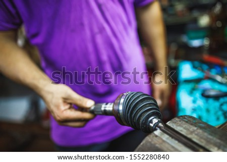 ATV constant-velocity CV joint, repair by hands #1552280840