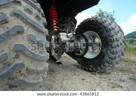 ATV in the mud and dust