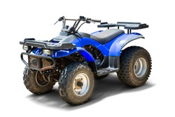 ATV Quad bike, All-Terrain vehicle, isolated on white background with clipping path