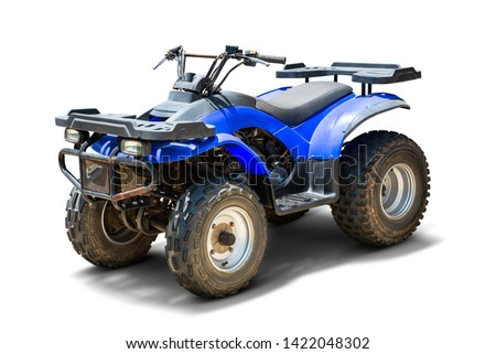 ATV Quad bike, All-Terrain vehicle, isolated on white background with clipping path Stock photo ©