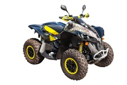 ATV quad bike or buggy car isolated on white background with clipping path.