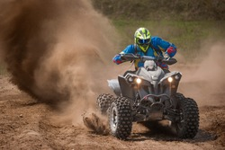 ATV Rider in the action