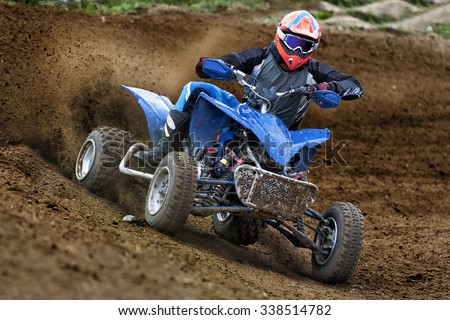 ATV Rider in the action Stock photo ©