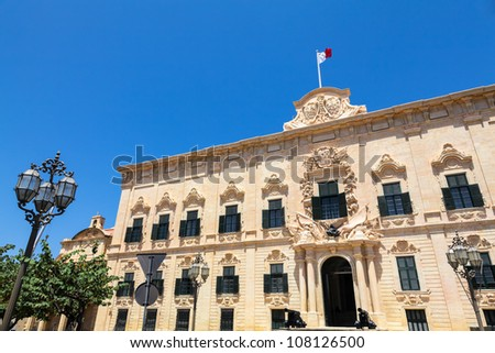 Auberge de Castille in Valletta, Malta - office of the Prime Minister of Malta