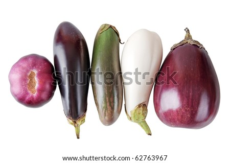 aubergine isolated on a white background