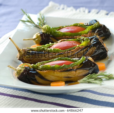 aubergine stuffed minced meat