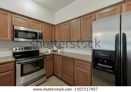 Auburn, WA / USA - June 5, 2018: Modern kitchen interior #1107117407