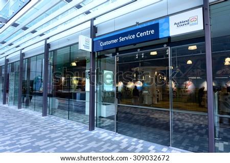 AUCKLAND - AUG 21 2015:Auckland Council customer service centre.It\'s the largest council in Australasia, with a $3 billion annual budget, $29 billion of ratepayer equity, and approximately 8,000 staff