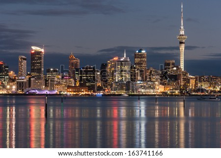 Auckland CBD at night #163741166