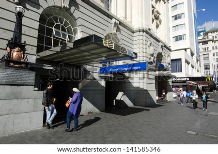 AUCKLAND - MAY 26:Britomart Transport Centre building on May 26 2013.It\'s the CBD public transport hub of Auckland, New Zealand, and the northern terminus of the North Island Main Trunk line.