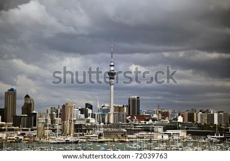 Auckland, New Zealand city skyline