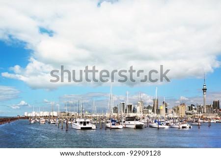 Auckland skyline and harbor