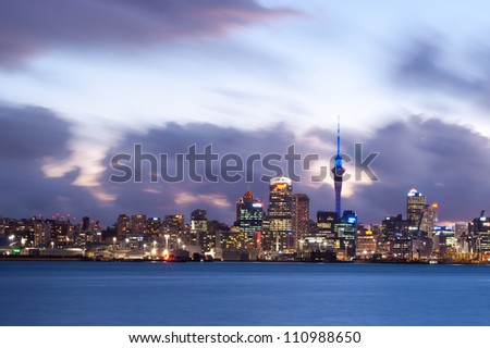 Auckland skyline, New Zealand - stock photo