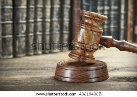 auctioneer or judges hammer or...
