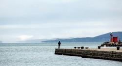 audace pier in winter time, trieste