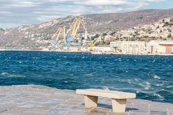 Audace pier with Bora wind, Trieste