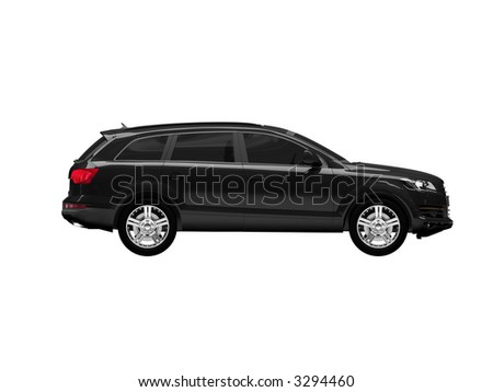 Audi car side view
