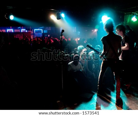 Audience at a punk rock show