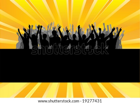 Audience Cheering Success  Template Background