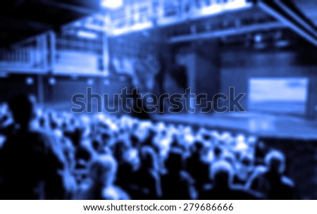 Audience in Theater blurred #279686666