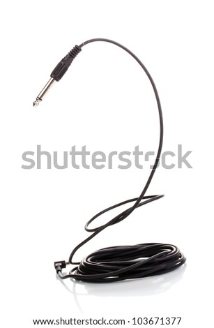 Audio cable isolated on white
