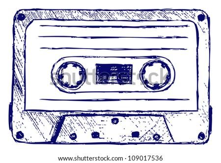 Audio cassette. Raster