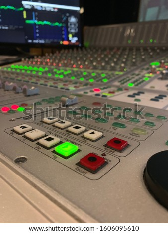 Audio console into the mix post productions life