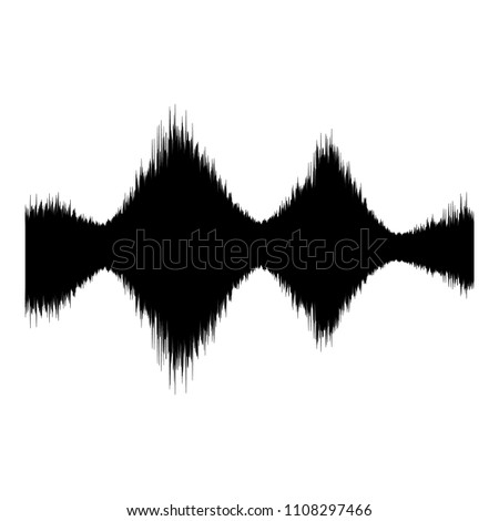Audio equalizer amplitude icon. Simple illustration of audio equalizer amplitude icon for web