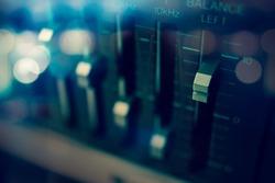 Audio equalizer Control panel