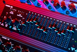 Audio equalizer in bright light