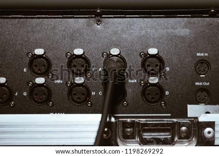 audio equipment. Audio connectors