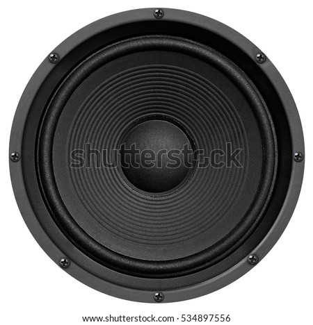 Audio equipment, speaker on white background #534897556