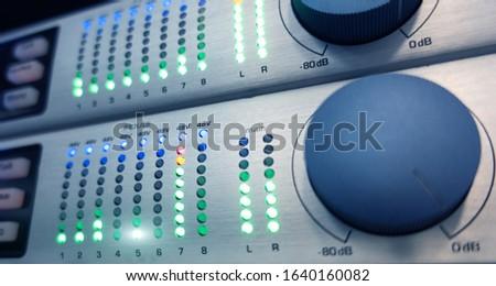 Audio Equipment. Technology concept data center.