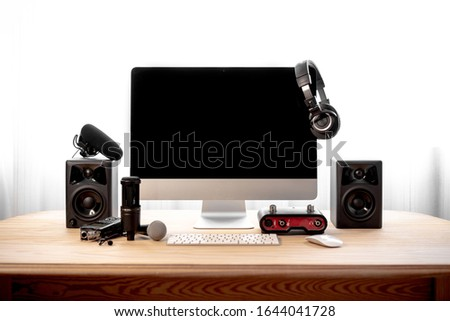 Audio equipment with a computer