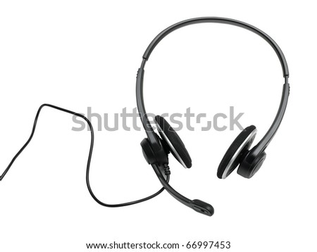 audio headset (clipping path) on white background