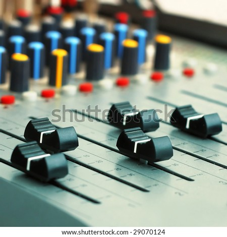 Audio mixer panel