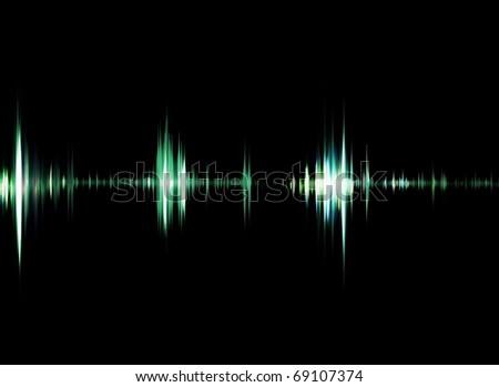 audio signals - stock photo