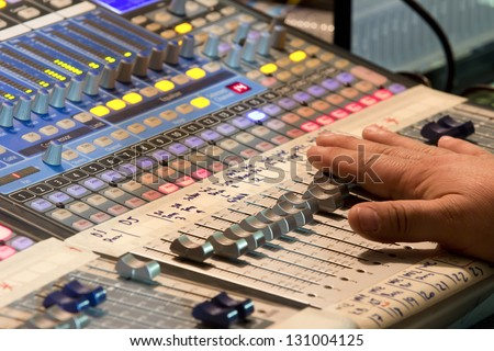 Audio sound mixer in concert