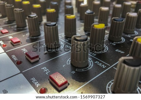 Audio  sound mixing controller mixer knobs and volume